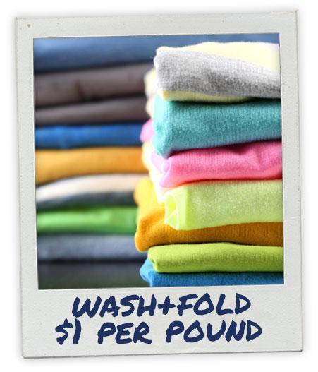 Wash and Fold Service - $1 per pound