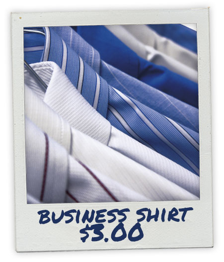 Dry Clean Business Shirt - $3.00
